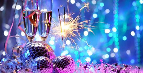 kerst met champagne